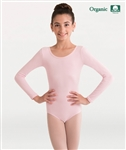 Body Wrappers Girls Organic Cotton Long Sleeve Leotard