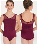 Body Wrappers Power Mesh Yokes Leotard