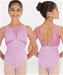 Body Wrappers Mesh V-Necklines and Inserts Leotard