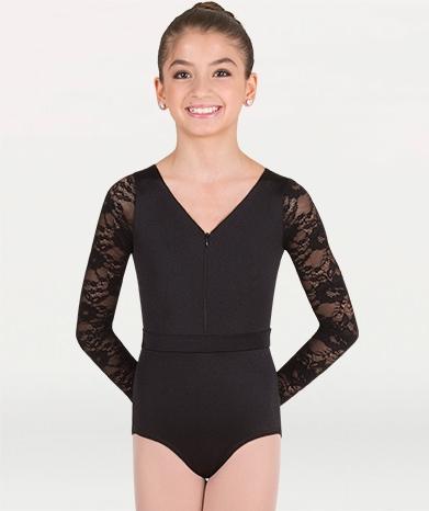 8a65832285e Body Wrappers Long Sleeve Lace Back Leotard - You Go Girl Dancewear!