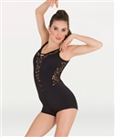 Body Wrappers Boy-Cut Romantic Lace Leotard
