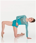 Body Wrappers Diamond Mesh Long Sleeve Leotard