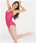 Body Wrappers Petite Floral Camisole Leotard