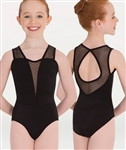 Body Wrappers Petite Floral Keyhole Back Leotard