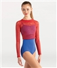 Body Wrappers Open Mesh Long Sleeve Crop Pullover