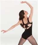 Body Wrappers PREMIER Pointella Mesh Cut-Out Back Leotard