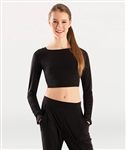 Body Wrappers Long Sleeve Crop Pullover