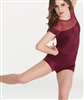 Body Wrappers Illusion Neckline Boy-Cut Leotard  - You Go Girl Dancewear