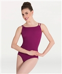Body Wrappers Double Stap Low V-Back Leotard