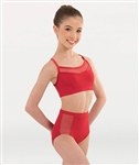 Body Wrappers Tween Fine Mesh Stripe Camisole Bra