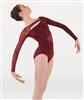 Body Wrappers Tween Shiny Mesh Long Sleeve Leotard