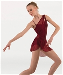 Body Wrappers Tween Asymmetrical Dance Dress