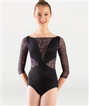 Body Wrappers Virginia Blooms 3/4 Sleeve Leotard