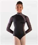 Body Wrappers Virginia Blooms Mock Neck Long Sleeve Leotard