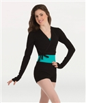 Body Wrappers Long Sleeve Wrap Dance Sweater