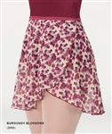 Body Wrappers Adult Chiffon Skirt - Burgundy Blossoms