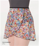Body Wrappers Adult Chiffon Skirt - Fun Flowers