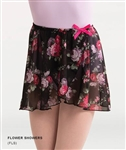 Body Wrappers Adult Chiffon Skirt - Flower Showers