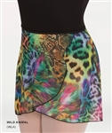 Body Wrappers Adult Chiffon Skirt - Wild Animal