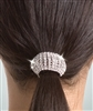 Body Wrappers Flexible Rhinestone Ponytail Holder