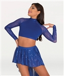 Body Wrappers Tween Twinkle Long Sleeve Open Back Bra