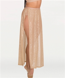 Body Wrappers Tween Chiffon Side Slit Skirt