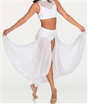 Body Wrappers Tween Long Open Front Chiffon Drapey Skirt