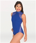 Body Wrappers Adult Mock Neck w/ Open Back Leotard
