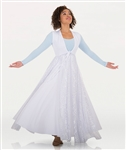 Body Wrappers Womens Long Tunic w/ Twinkle Fly Away Skirt