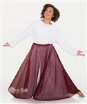 Body Wrappers Womens Twinkle Long Flowing Convertible Skirt