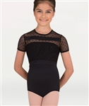 Body Wrappers Tweens Dotted Cap Sleeve Leotard - You Go Girl Dancewear