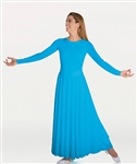 Body Wrappers Praise Dance Loose Fit Long Sleeve Dance Dress, 2X, 3X, 4X, 5X, 6X
