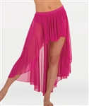 Body Wrappers Women's Convertible Long Back Drapey Chiffon Skirt in Sizes XS/S, M/L, XL/2X