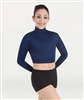 Body Wrappers Girls Long Sleeve Turtleneck Midriff