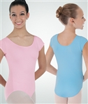 Body Wrappers Girls Cap Sleeve Nylon Leotard - You Go Girl Dancewear