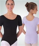 Body Wrappers Girls Short Sleeve Nylon Leotard - You Go Girl Dancewear