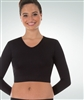 Body Wrappers Girls Long Sleeve V-Neck Midriff