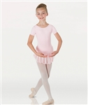 Body Wrappers ProWEAR Girls Short Sleeve Skirted Leotard
