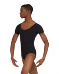 Capezio Mens Tactel Short Sleeve Leotard - You Go Girl Dancewear