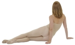 Capezio Ultra Soft Body Tights with Clear Straps