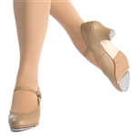 Capezio Leather Jr. Footlight with Taps attached - 561