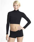 Capezio Adult Nylon Turtleneck Top - Style TB107
