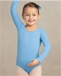 Capezio Nylon Scoop Neck Child Long Sleeve Leotard - Style TB134C