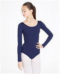 5a1a170b02 Capezio Nylon Scoop Neck Adult Long Sleeve Leotard