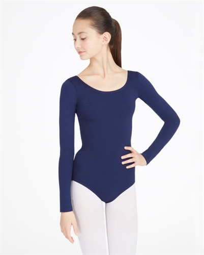 a68244a7906 Capezio Nylon Scoop Neck Adult Long Sleeve Leotard - You Go Girl Dancewear