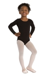 Capezio Cotton Scoop Neck Child Long-Sleeve Leotard - CC450C