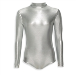 Metallic Long Sleeve Turtleneck Leotard - all colors & sizes