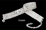 Rhinestone Stretch Choker - Three Row