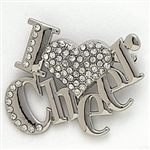 Dasha I Love Cheer Pin