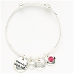 Dasha Dancer Phrase and Stone Bracelet